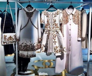 clothes, gold, and dresses image