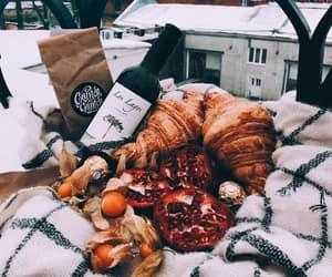 croissant, garnet, and food image
