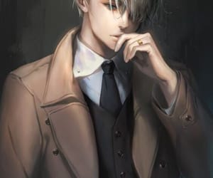 anime, grey, and men image