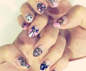 nails, girls, and sailor moon image