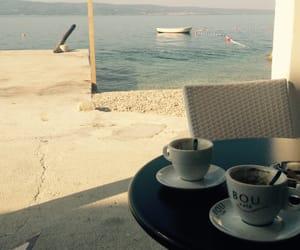 coffee, sea, and view image
