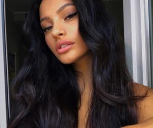 black hair, makeup, and selfie image
