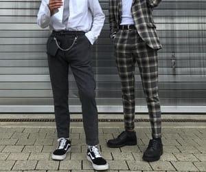 vans, men fashion, and site model image