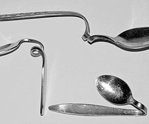 aesthetic, metal, and spoon image