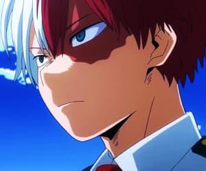 anime, boku no hero academia, and todoroki shouto image