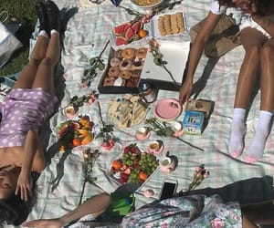 aesthetic, picnic, and summer image