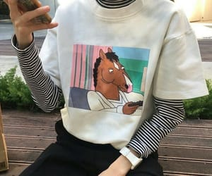 cartoon, outfit, and shirt image