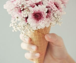 flowers, ice cream, and aesthetic image