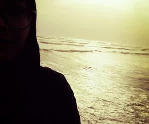 alone, beach, and karachi image