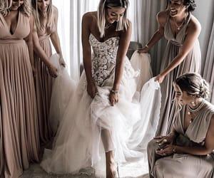 bride, bridesmaids, and wedding image