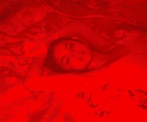 selena gomez, red, and bad liar image