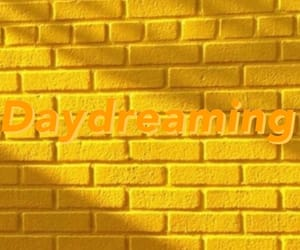 daydreaming, wallpaper, and yellow image