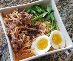 noodles, mouthwatering, and spicy image