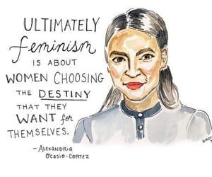 feminist, feminism, and girl power image