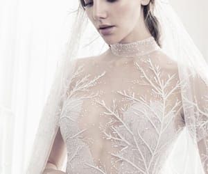 dress, haute couture, and white image