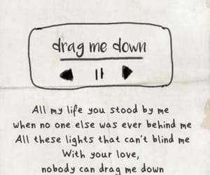 one direction, Lyrics, and drag me down image