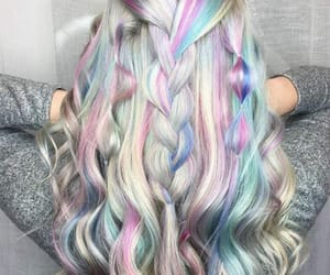 hair, hairstyle, and holographic image