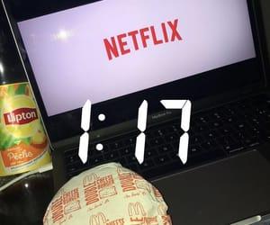 cheeseburger, food, and ice tea image