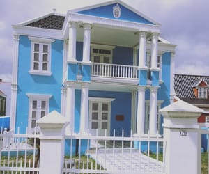 beach house, blue, and pastel image