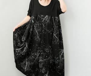 black top, long dress, and maternity dress image