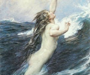art, painting, and sea image