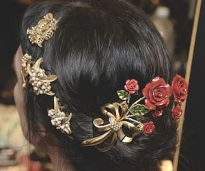 accessories, black, and flowers image