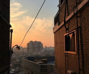 city, sunset, and aesthetic image