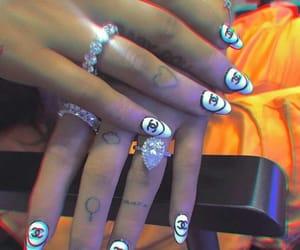 nails, ariana grande, and tattoo image