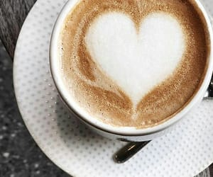 coffee, heart, and morning image