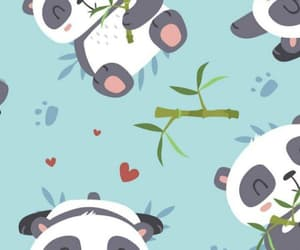 wallpaper, background, and panda image