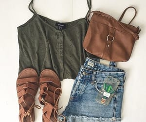 brown, casual, and outfit image