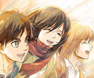 shingeki no kyojin, anime, and manga image