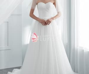 a-line, sweetheart, and wedding dress image