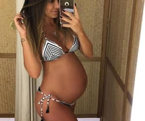 bump, pregnancy, and selfie image