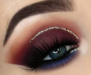 blue, burgundy, and eye image