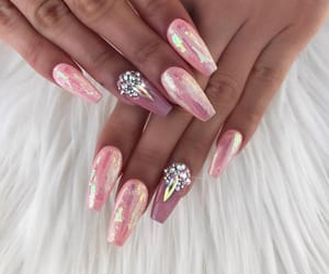 acrylic, nail inspo, and girly inspo image