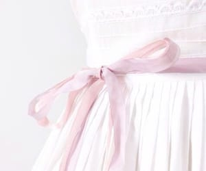 background, pink, and ribbon image