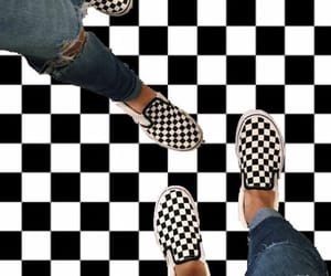 aesthetic, checkered, and vans image