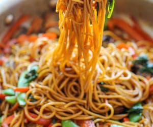 food, noodles, and dinner image