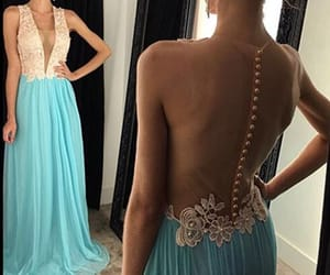 Prom, prom gown, and prom dress image