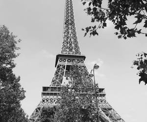 black&white, eiffel tower, and paris image