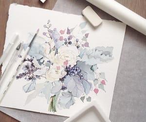 acuarela, artist, and paint image