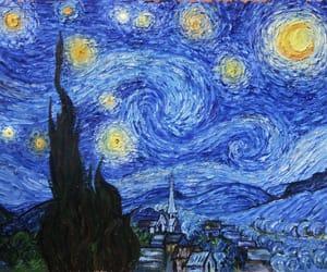 art, blue, and vangogh image