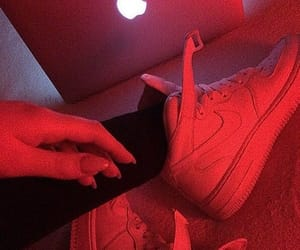 red, aesthetic, and nike image