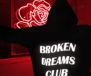 Dream, neon, and red image