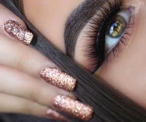 nails, eyes, and makeup image