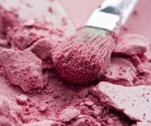 pink, brush, and makeup image