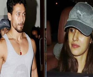 tiger shroff, disha patani, and spotted at dinner date image