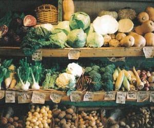 vegetables, food, and vintage image