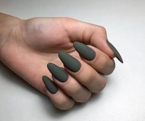 green, manicure, and nails image